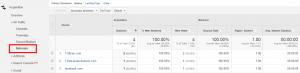 trovare referral spam analytics